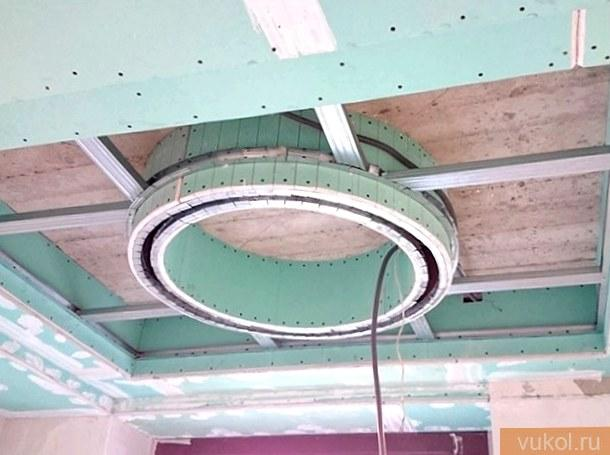 Как делать короб на потолке