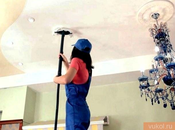 Как мыть натяжные глянцевые потолки