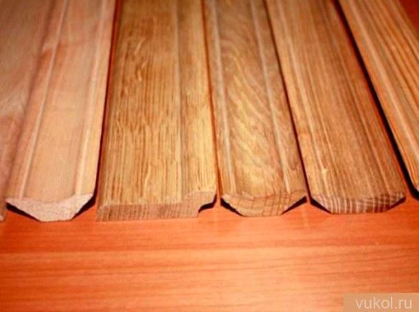 Как сделать древесный плинтус