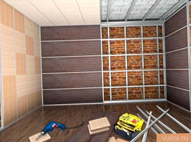 Как установить стеновые пластмассовые панели