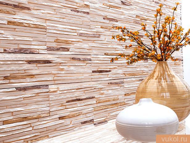 Отделка стенок декоративным камнем