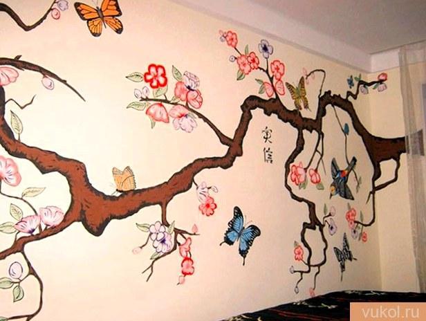 Роспись стенок