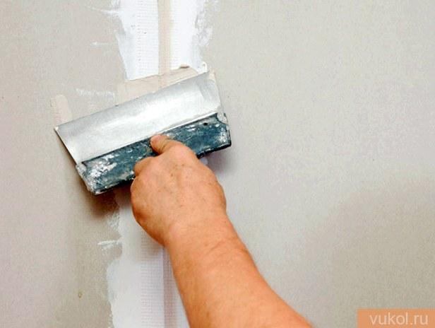 Шпаклевание стенок