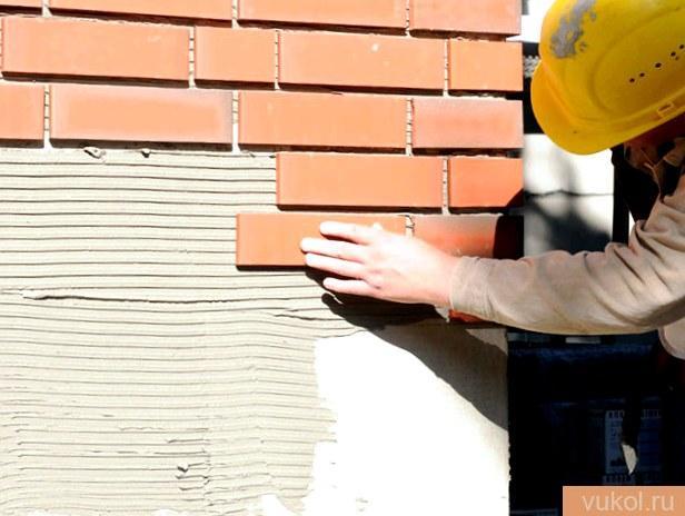 Разработка укладки глиняной фасадной плитки