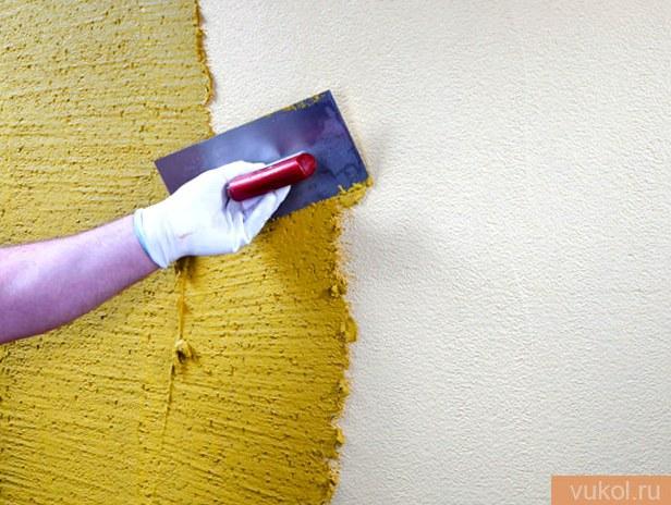 Текстурная краска для стену