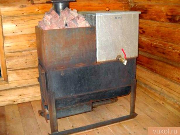 Стальная печь для бани