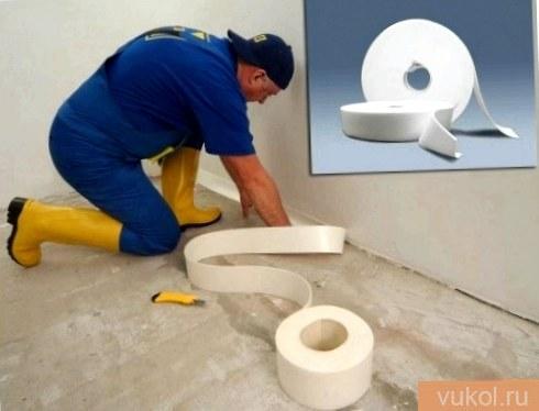 Демпферная лента для бетонного пола