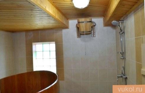 Как сделать душ в бане своими руками  фото
