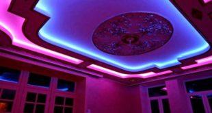 Разработка монтажа навесного потолка с подсветкой