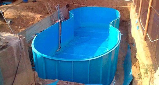 Установка бассейна своими руками