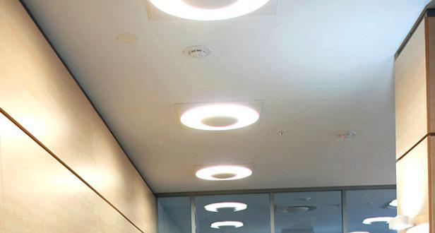 Встраиваемые осветительные приборы для натяжных потолков