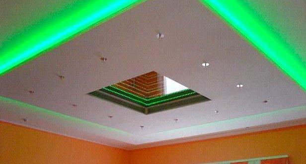 Натяжной потолок с подсветкой своими руками