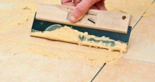 Затирка для плитки: расход, достоинства, особенности внедрения