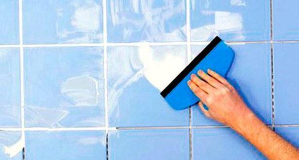 Затирка швов плитки в ванной