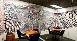 Роспись стенок в дизайне интерьера