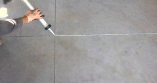 Заделка швов в цементных полах